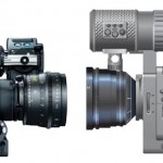 the Arri Alexa seen beside the JVC falcon for comparative size.