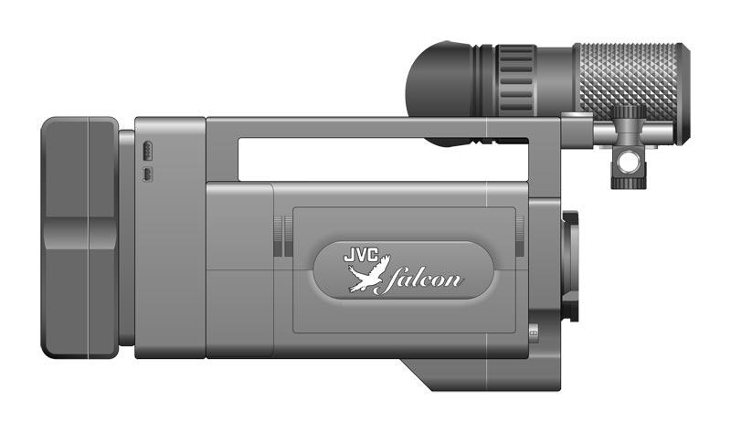 Camera designed by Alexei Berteig for JVC, assistant's side.